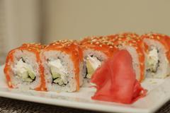 Philadelphia classic.Japanese sushi. Kuvituskuvat