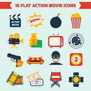 Stock Illustration of Action movie set