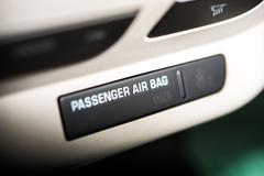 passenger car air bag on off indicator. modern car safety feature - stock photo