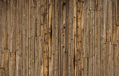 vintage planks background. wooden wall with vertical planks backdrop. - stock photo