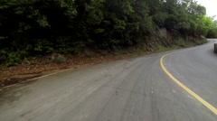 Car rides on roads of USVI - stock footage
