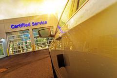 car service auto care center. - stock photo