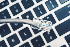 Stock Photo of network concept with rj 45 network cable