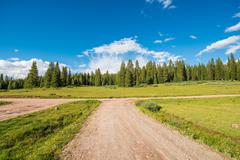 colorado backcountry gravel roads. - stock photo