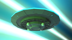 flying saucer at warp speed - stock footage