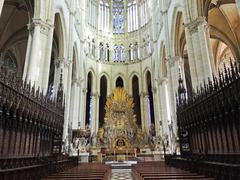 nave of amiens cathedral, france - stock photo