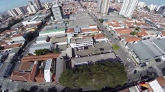 Aerial view of Tatuape neighborhood in Sao Paulo, Brazil Stock Footage