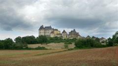 Chateau de Biron - Biron France - HD 4k+ Stock Footage