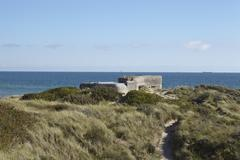 Skagen (denmark) - second world war bunkers at the coast Stock Photos