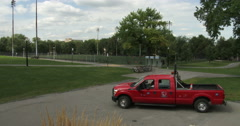 Parc Jeanne Mance in Montreal Stock Footage