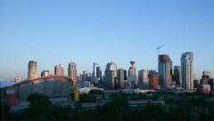 Amazing Timelapse Sunrise Calgary - stock footage
