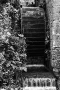 Working antique victorian era water mill Stock Photos
