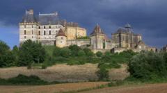 Chateau de Biron - Biron France Stock Footage