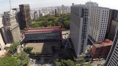 Aerial view for Paulista Avenue in Sao Paulo, Brazil Stock Footage