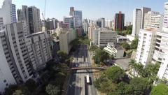 Aerial view from downtown in Sao Paulo, Brazil Stock Footage