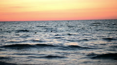 Sunrise at the beach, panorama video shot Stock Footage