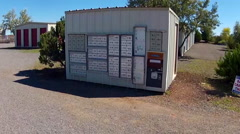 Small Town Post Office Boxes And Mailing Center- Valle AZ Stock Footage