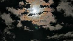 Full Moon and Clouds Timelapse Stock Footage