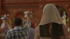 Wedding Ceremony in Russian Christian Orthodox Church Stock Footage
