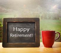enjoy your retirement! - stock photo
