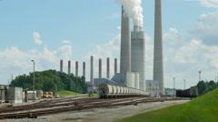 4K Kingston Fossil Plant Rail Yard 1 Stock Footage