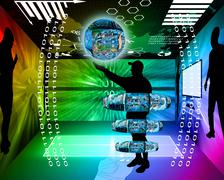 Internet and humanity Stock Illustration