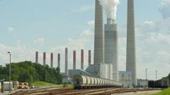 Kingston Fossil Plant Rail Yard 2 Stock Footage