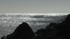 Kaatuu Waves, Rocks, laituri, Surf, Coast, Ocean, 4K, UHD Arkistovideo