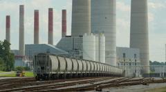 Kingston Fossil Plant Rail Yard 3 Stock Footage
