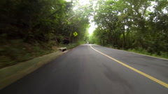 Speed bumps and jeeps in the usvi Stock Footage