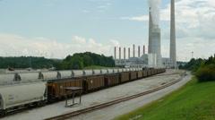 Kingston Fossil Plant Rail Yard 4 Stock Footage
