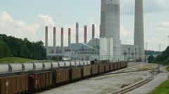 4K Kingston Fossil Plant Rail Yard 5 Stock Footage