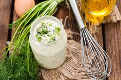 Stock Photo of fresh made sauce remoulade