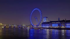 Static, time-lapse of the London Eye - stock footage