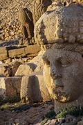 giant head of goddess tyche - stock photo