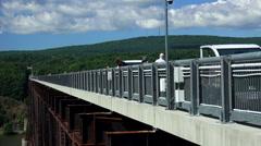"Hudson Valley ""Walkway Bridge"" Stock Footage"