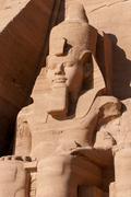 Abu simbel on the border of egypt and sudan Stock Photos