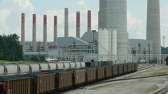 Kingston Fossil Plant Rail Yard 6 Stock Footage