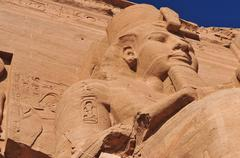 Abu simbel on the border of egypt and sudan Stock Photos
