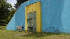World War II restored bunker arsenal 1 Stock Footage