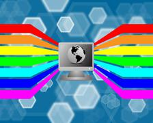 Stock Illustration of spectrum and the computer