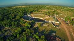 Burnum Roman amphitheater, aerial Stock Footage