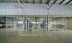 Stock Photo of interior of a new repair garage, elevation