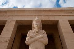 mortuary temple of queen hatshepsut - stock photo