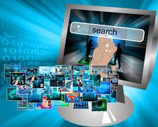 Stock Illustration of images in cyberspace