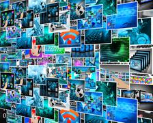 abstract view of the many different images to the internet for designers for  - stock illustration