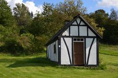 Timber cottage Stock Photos