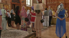 Traditional Wedding Ceremony in Russian Christian Orthodox Church Stock Footage