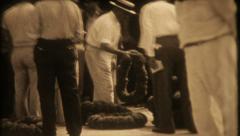 1149 - Tarpon Springs Sponge Exchange - vintage film home movie Stock Footage
