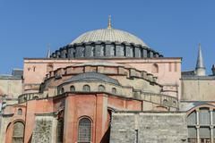hagia sophia in istanbul turkey - stock photo
